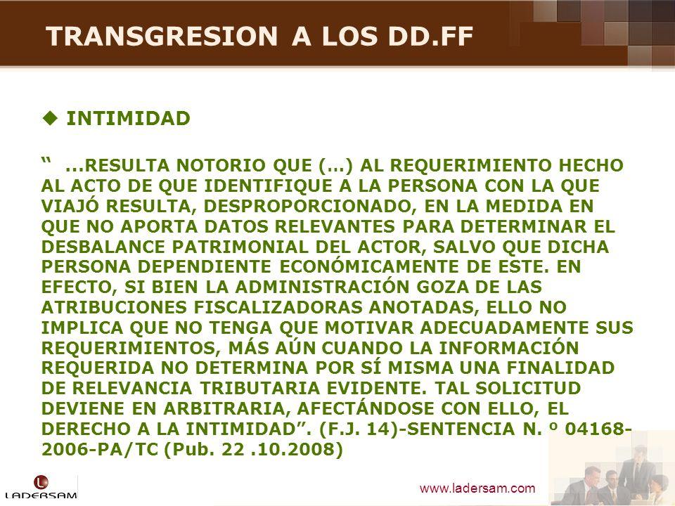 TRANSGRESION A LOS DD.FF