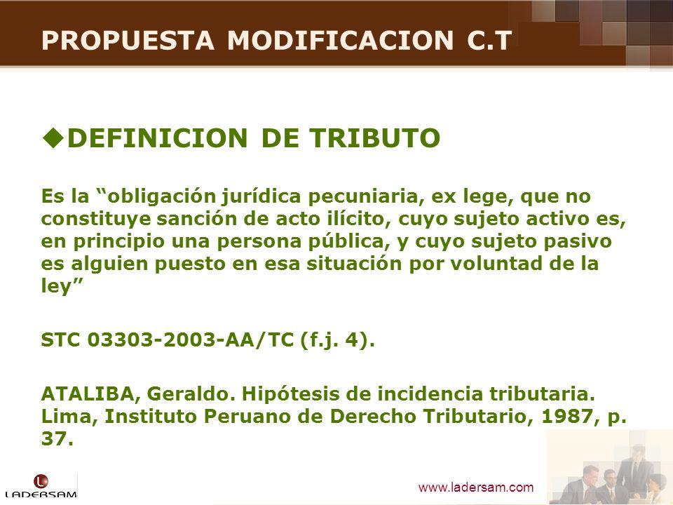 PROPUESTA MODIFICACION C.T
