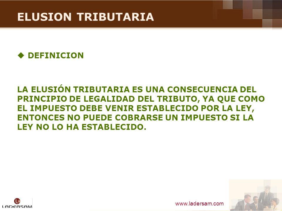 ELUSION TRIBUTARIA DEFINICION