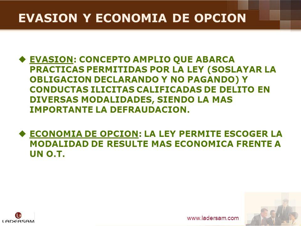 EVASION Y ECONOMIA DE OPCION