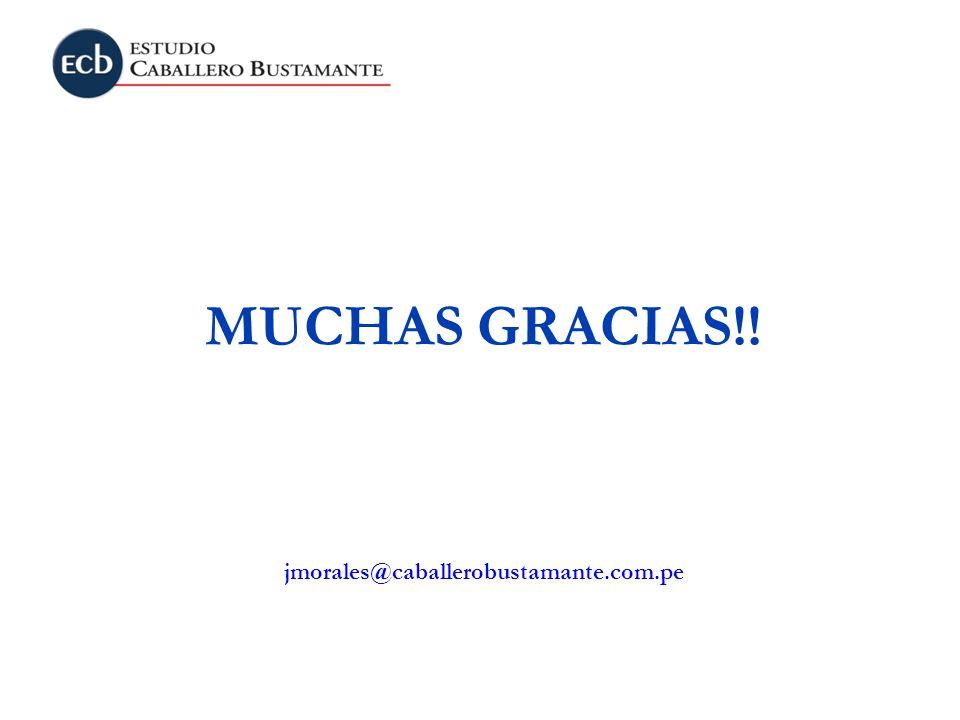 MUCHAS GRACIAS!! jmorales@caballerobustamante.com.pe
