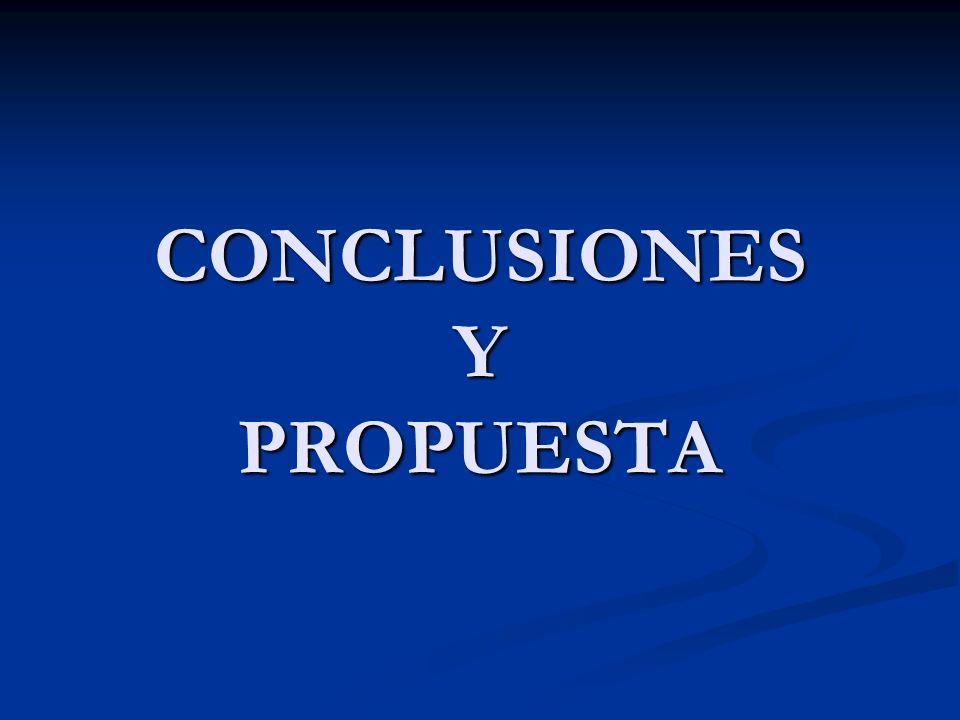 CONCLUSIONES Y PROPUESTA