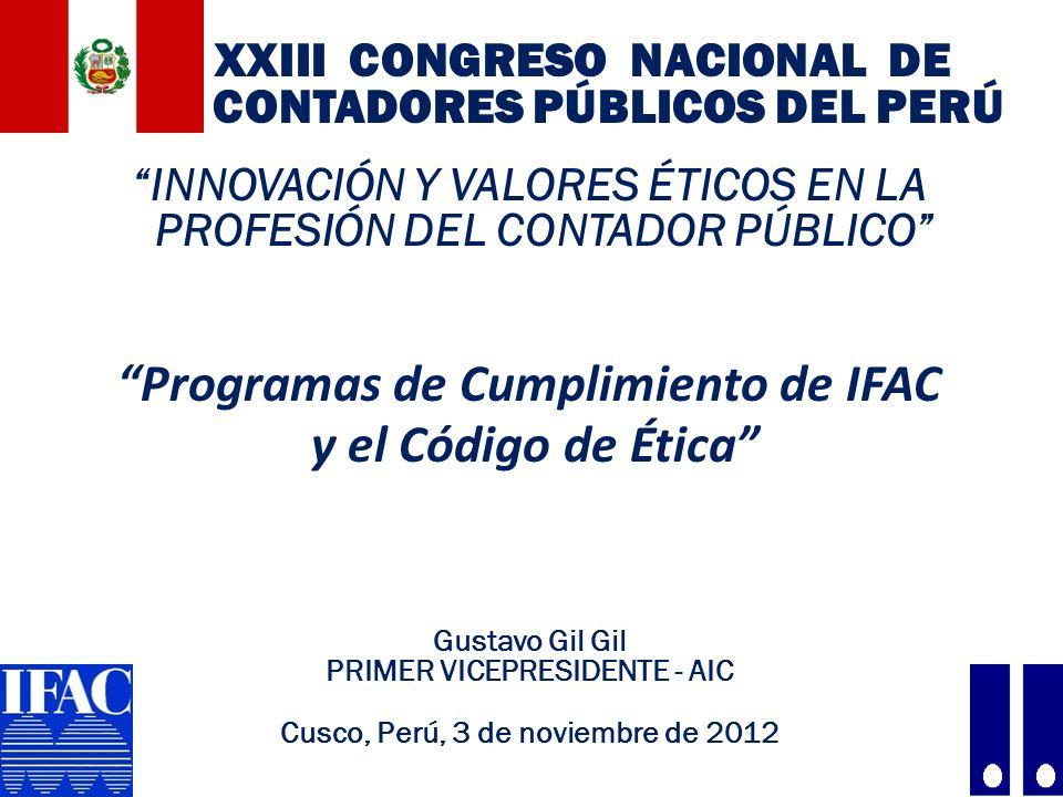 Programas de Cumplimiento de IFAC y el Código de Ética
