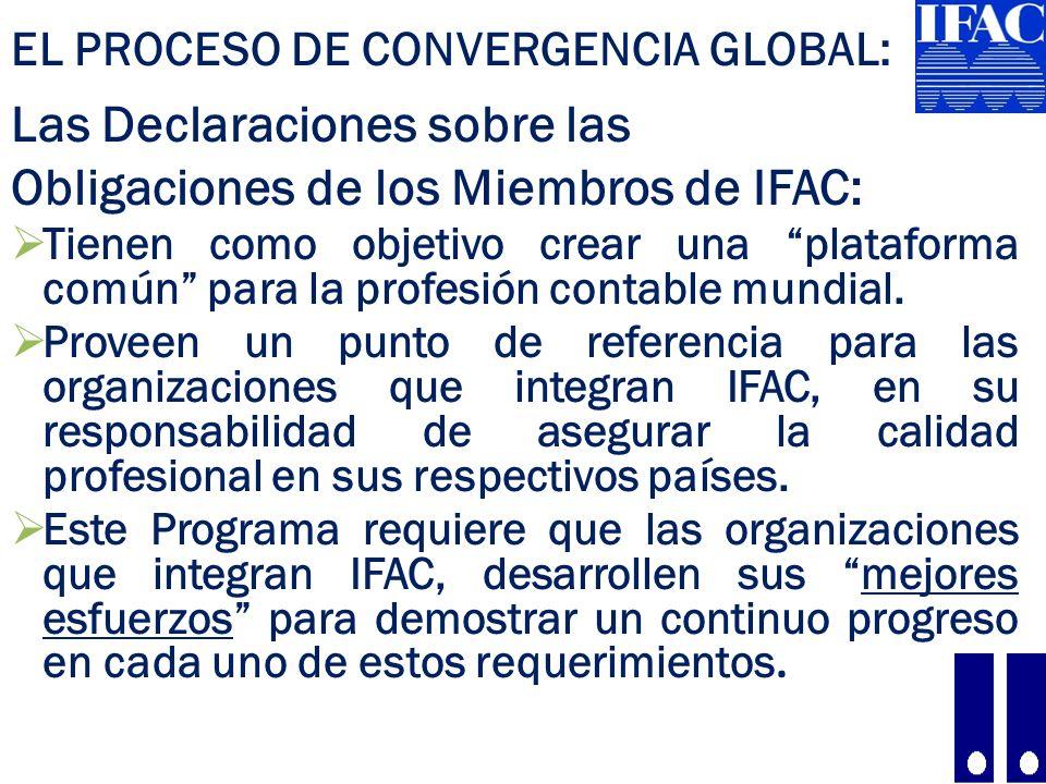 Las Declaraciones sobre las Obligaciones de los Miembros de IFAC: