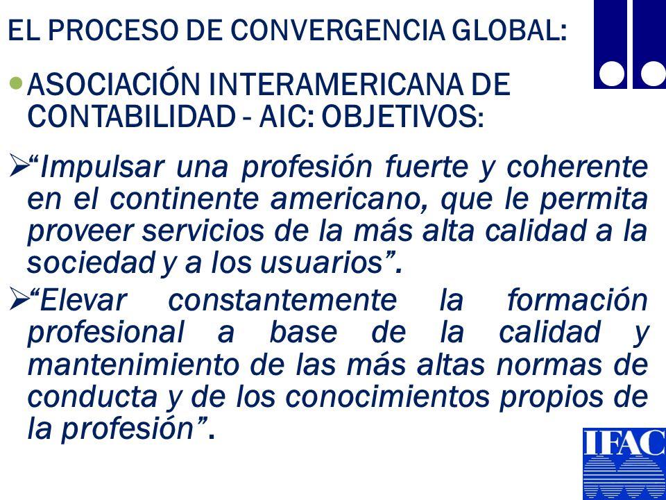 ASOCIACIÓN INTERAMERICANA DE CONTABILIDAD - AIC: OBJETIVOS: