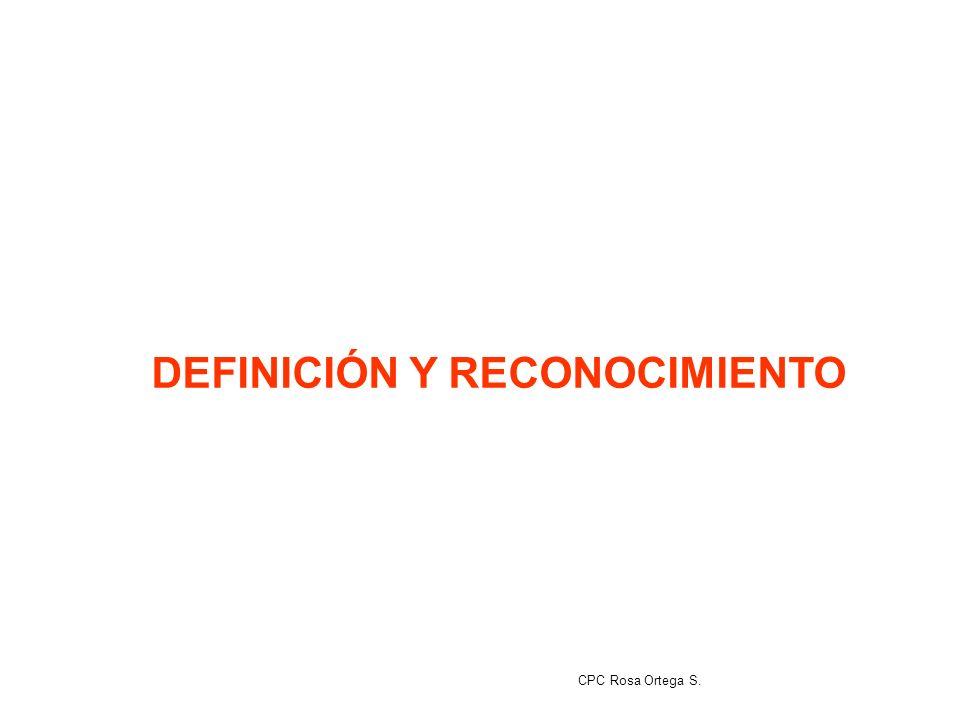 DEFINICIÓN Y RECONOCIMIENTO