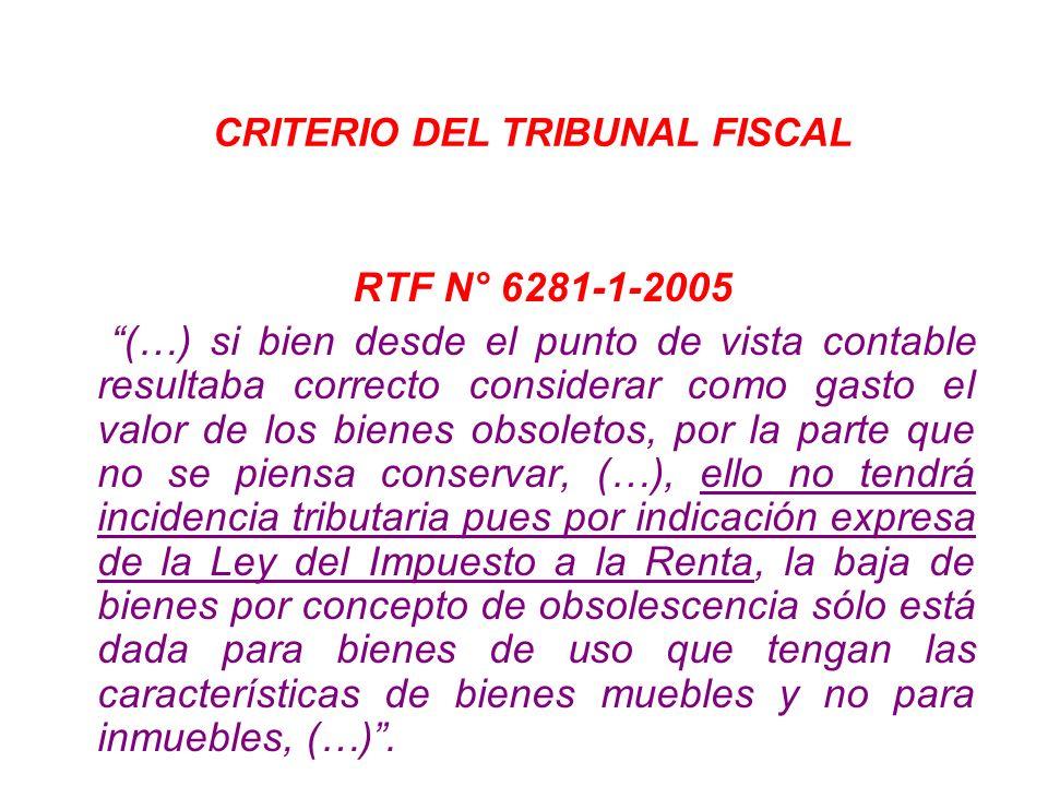 CRITERIO DEL TRIBUNAL FISCAL