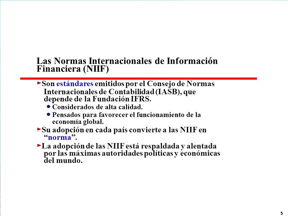 Las Normas Internacionales de Información Financiera (NIIF)