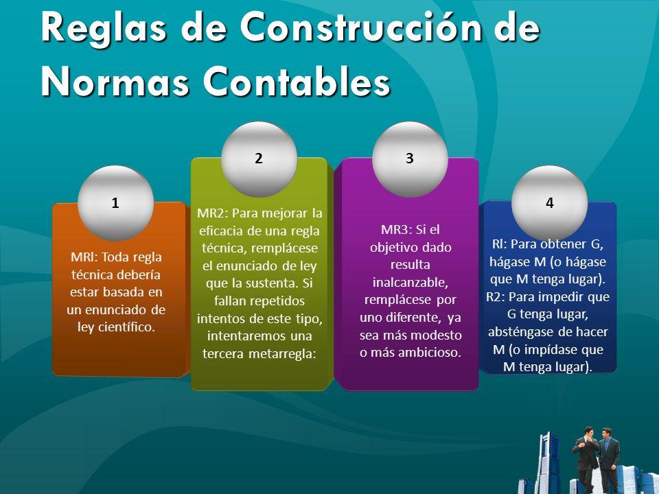 Reglas de Construcción de Normas Contables