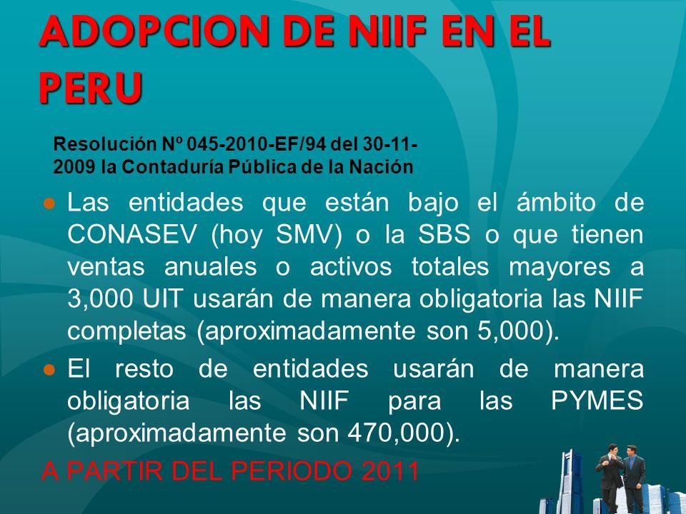 ADOPCION DE NIIF EN EL PERU