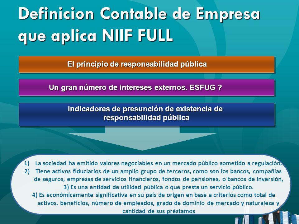 Definicion Contable de Empresa que aplica NIIF FULL
