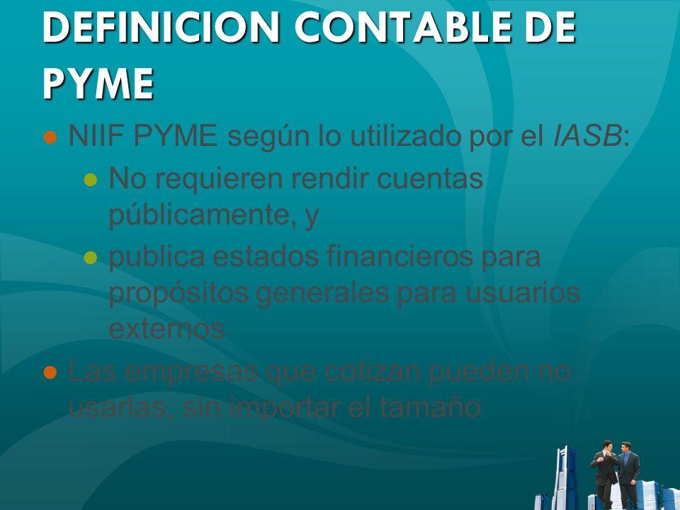 DEFINICION CONTABLE DE PYME