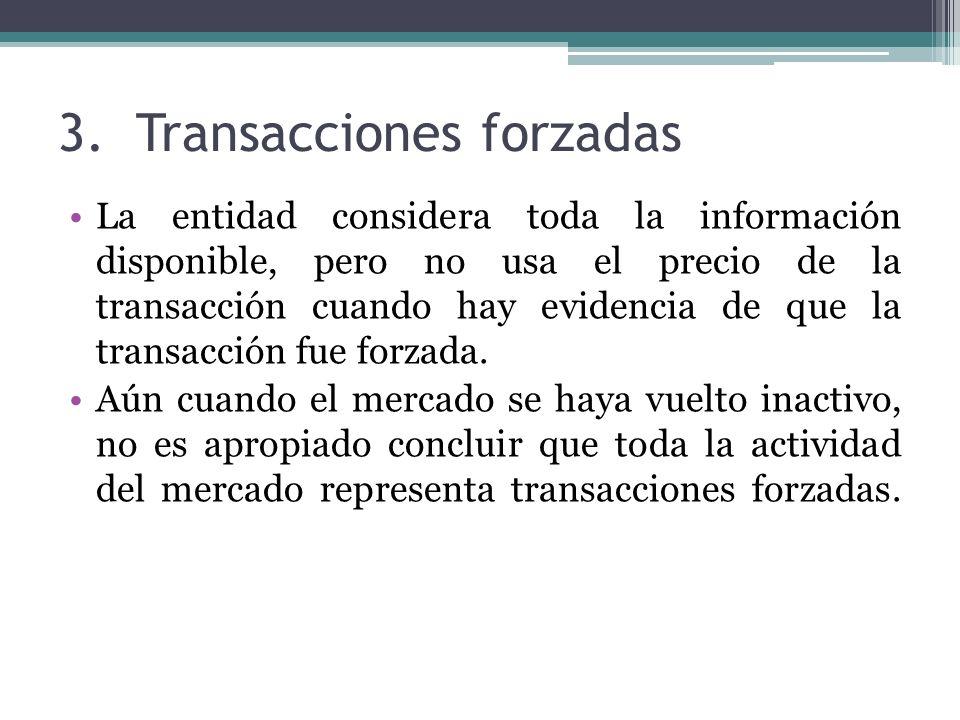 Transacciones forzadas