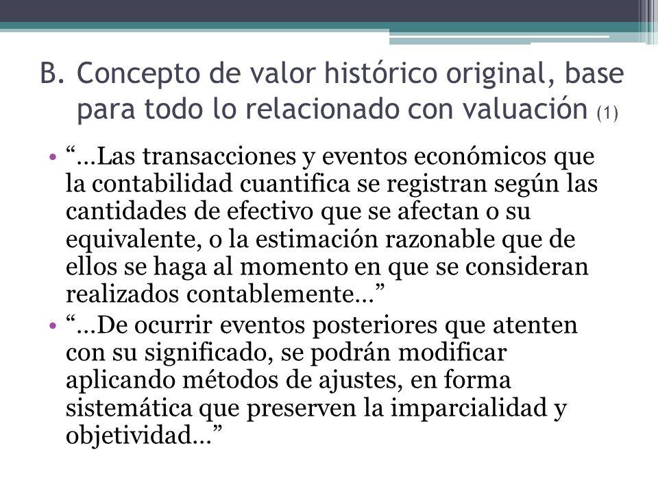 Concepto de valor histórico original, base para todo lo relacionado con valuación (1)