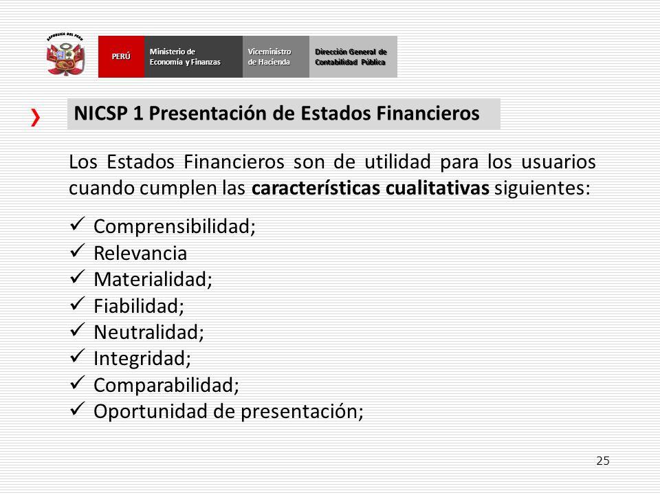 NICSP 1 Presentación de Estados Financieros