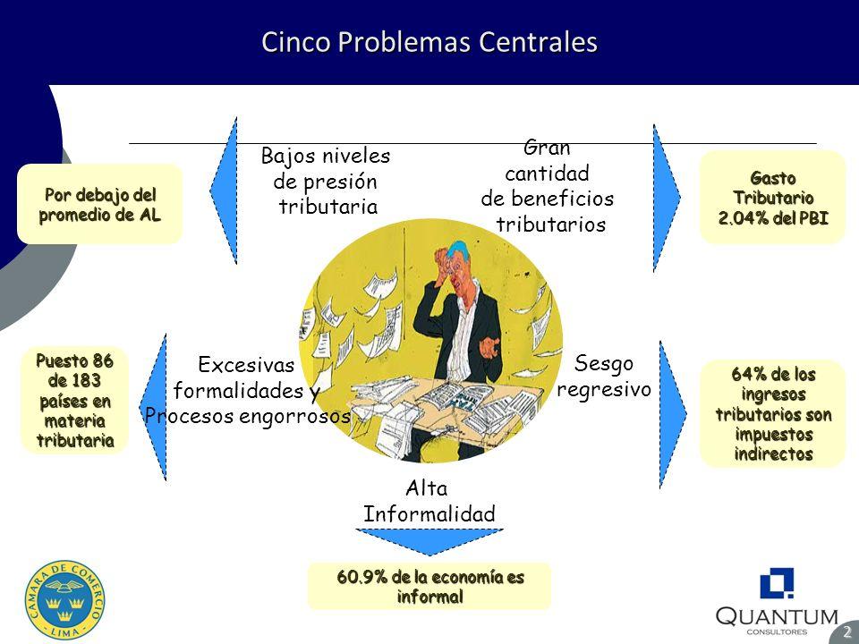 Cinco Problemas Centrales