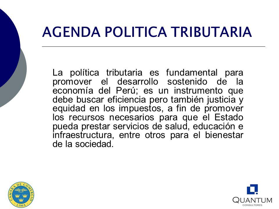 AGENDA POLITICA TRIBUTARIA