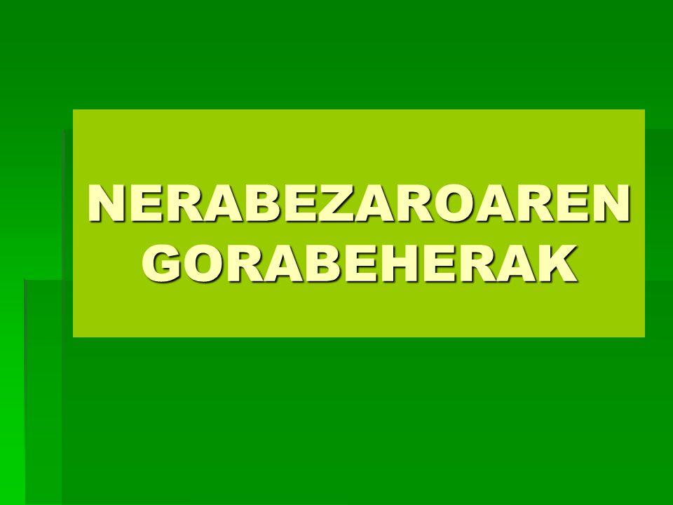 NERABEZAROAREN GORABEHERAK
