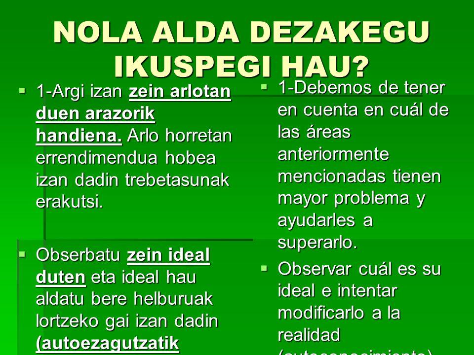 NOLA ALDA DEZAKEGU IKUSPEGI HAU