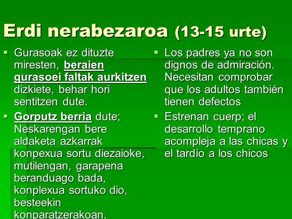 Erdi nerabezaroa (13-15 urte)