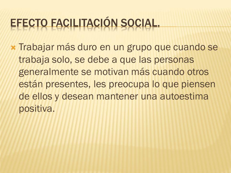 Efecto facilitación social.
