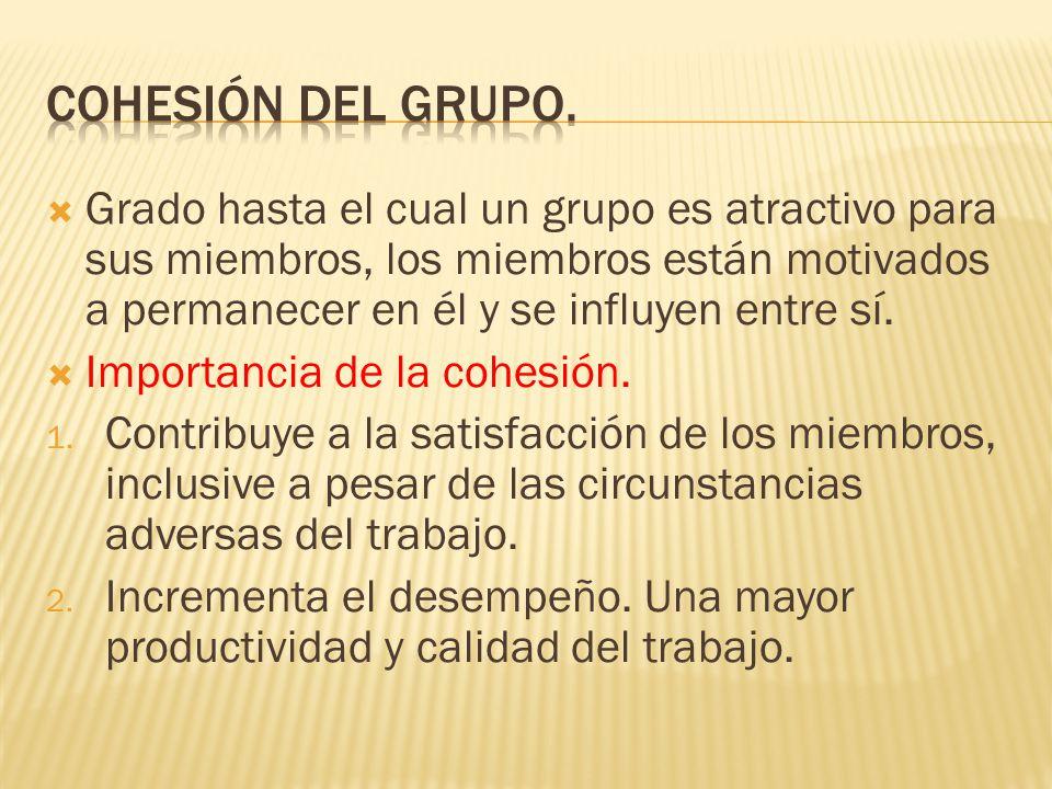 Cohesión del grupo.