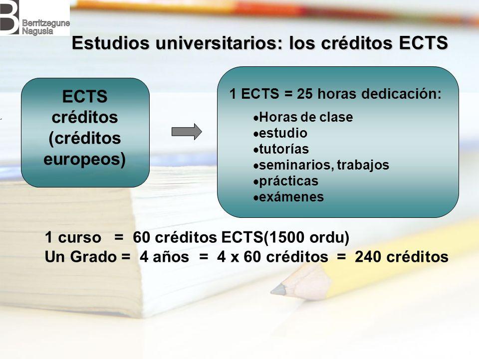 Estudios universitarios: los créditos ECTS