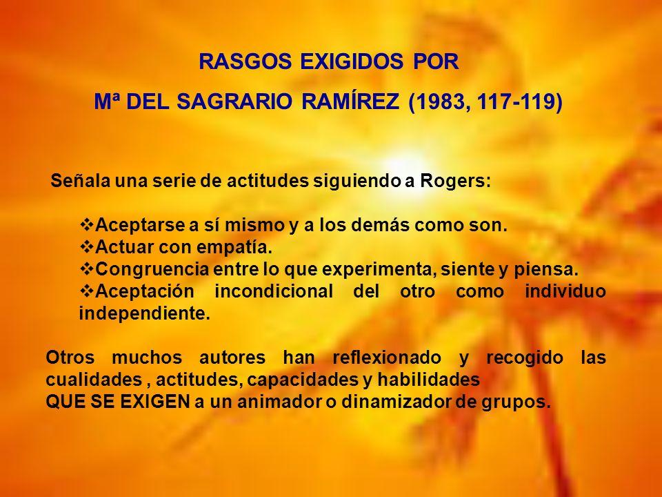 Mª DEL SAGRARIO RAMÍREZ (1983, 117-119)