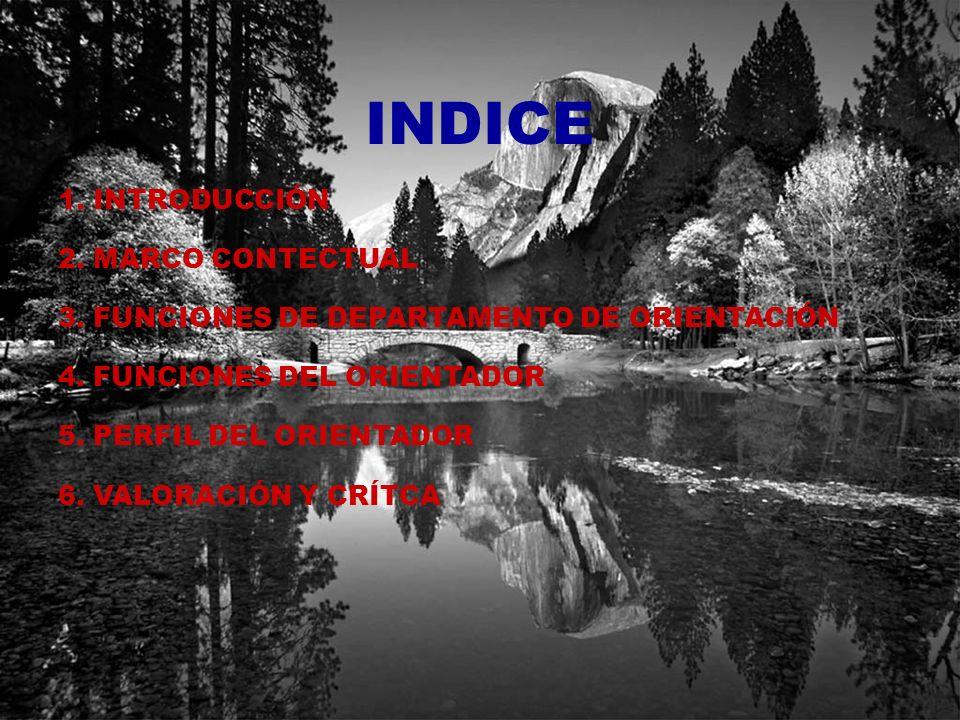 INDICE 1. INTRODUCCIÓN 2. MARCO CONTECTUAL