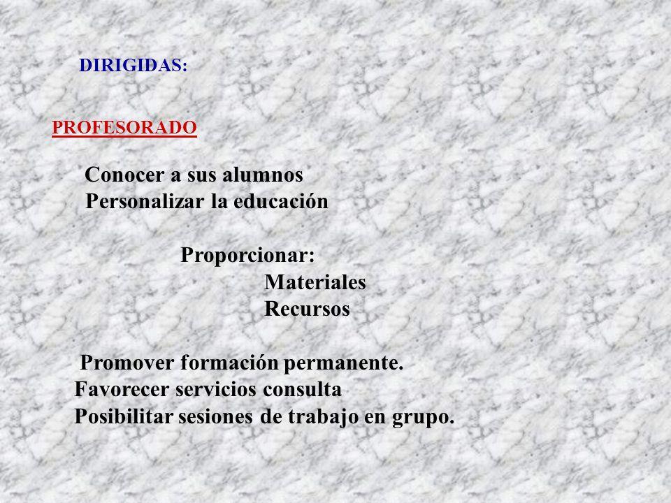 DIRIGIDAS: