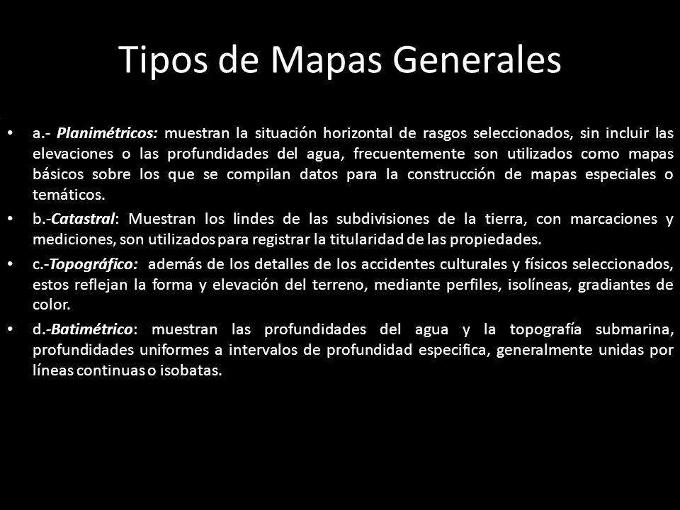 Tipos de Mapas Generales