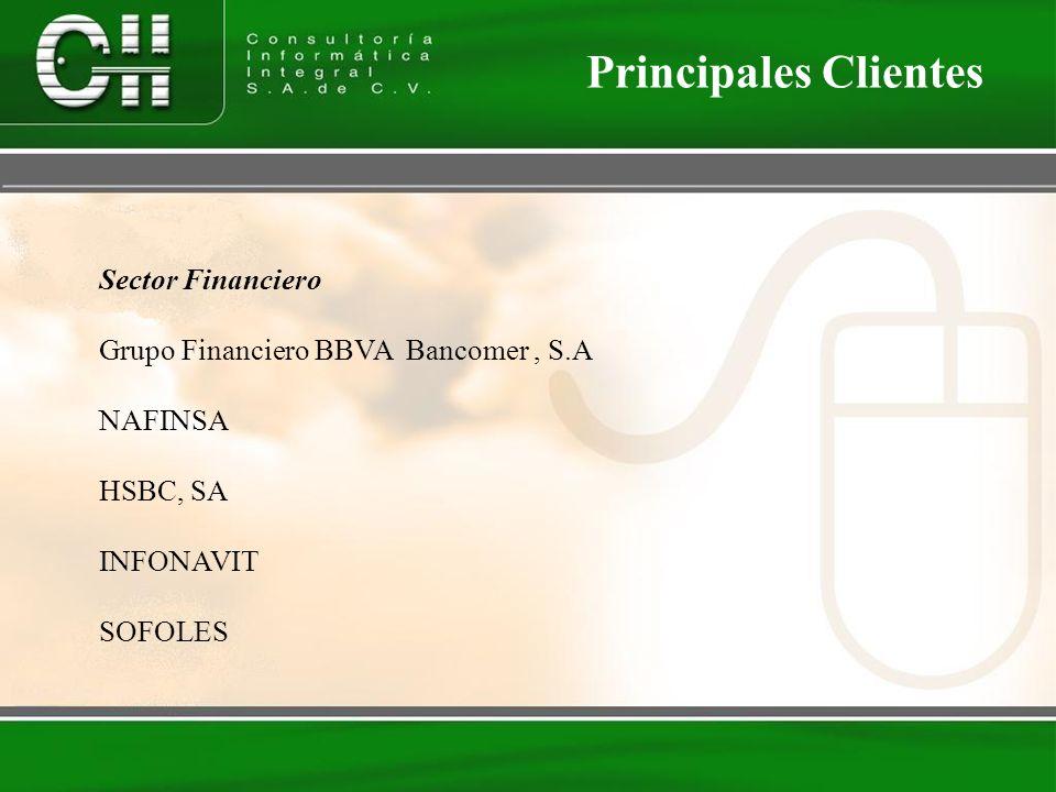 Principales Clientes Sector Financiero