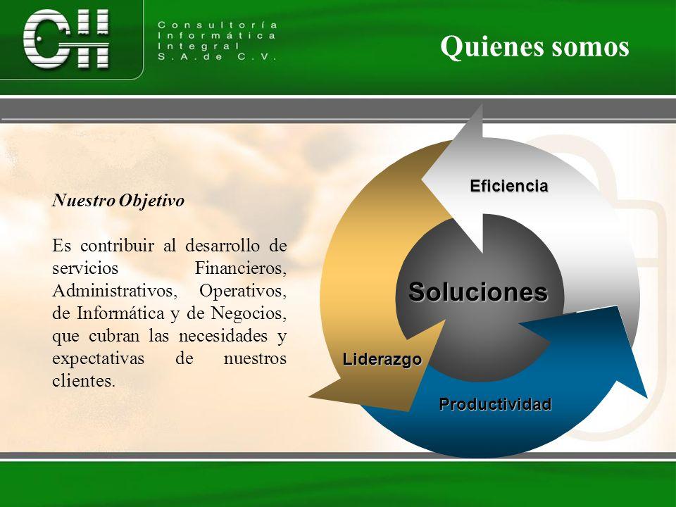 Quienes somos Soluciones Nuestro Objetivo