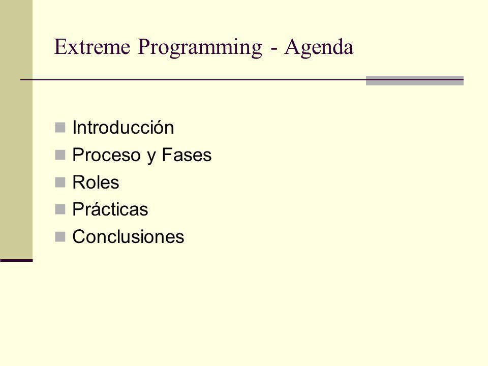 Extreme Programming - Agenda