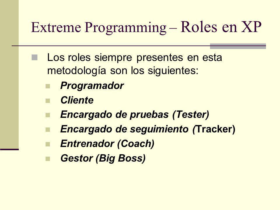 Extreme Programming – Roles en XP