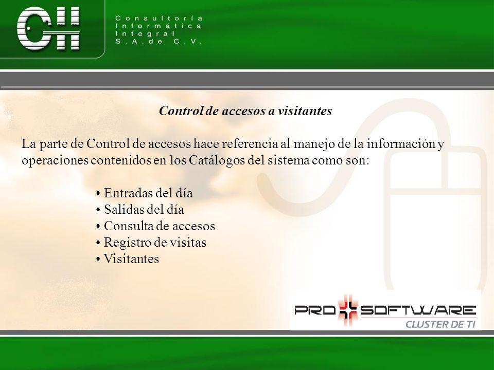 Control de accesos a visitantes