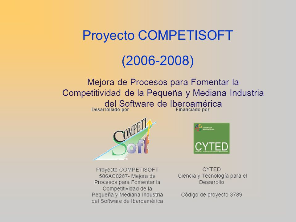 Proyecto COMPETISOFT (2006-2008)