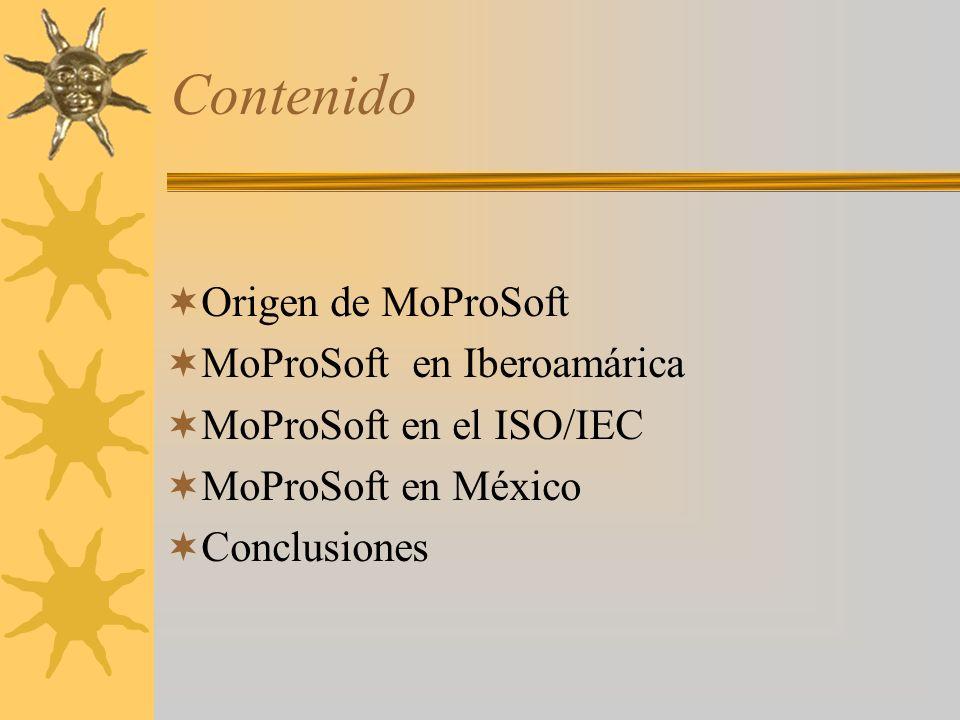 Contenido Origen de MoProSoft MoProSoft en Iberoamárica