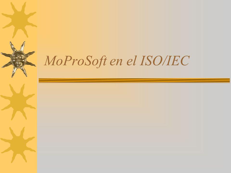MoProSoft en el ISO/IEC