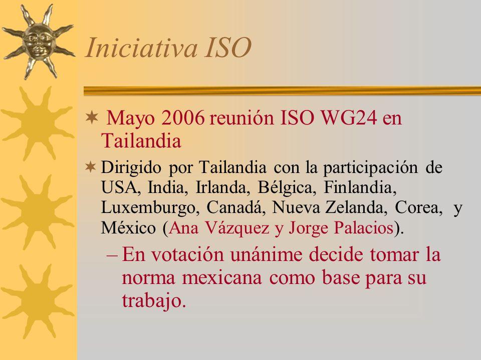 Iniciativa ISO Mayo 2006 reunión ISO WG24 en Tailandia