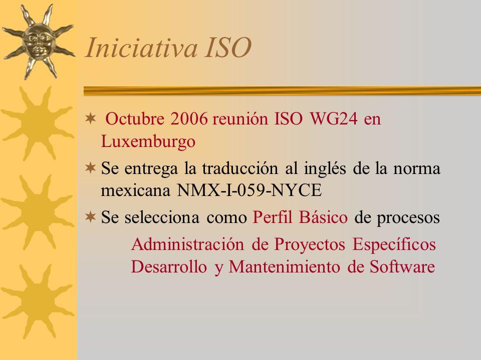 Iniciativa ISO Octubre 2006 reunión ISO WG24 en Luxemburgo