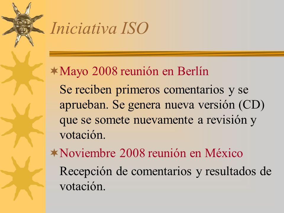 Iniciativa ISO Mayo 2008 reunión en Berlín