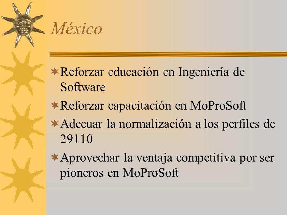 México Reforzar educación en Ingeniería de Software