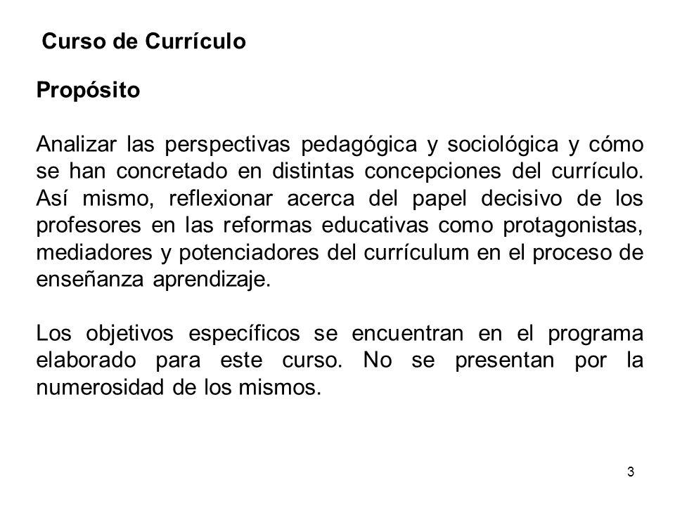 Curso de Currículo Propósito.