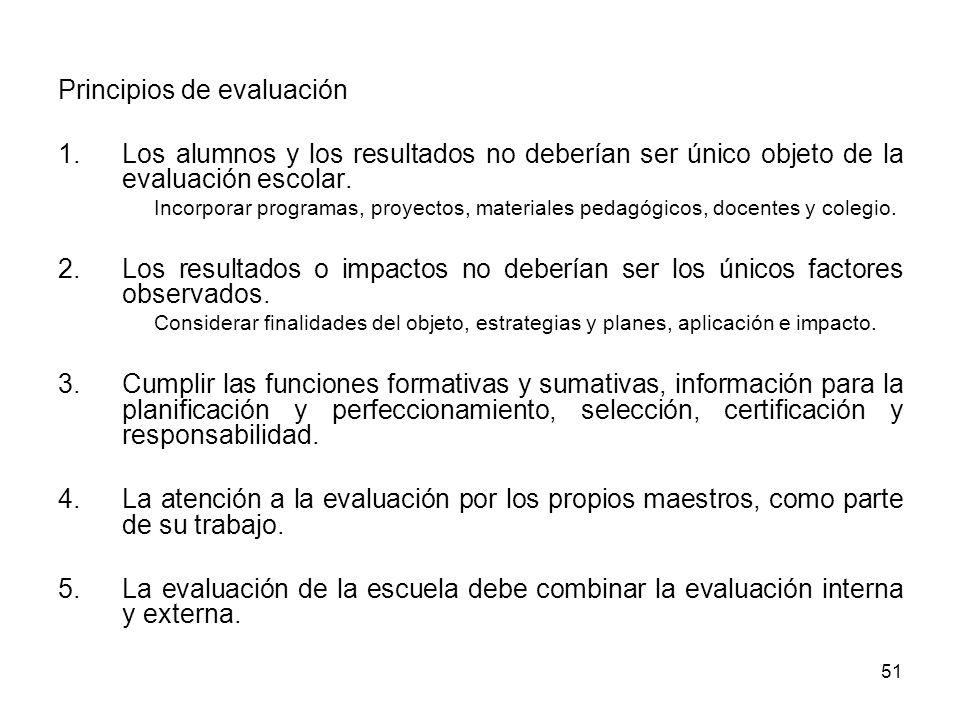 Principios de evaluación