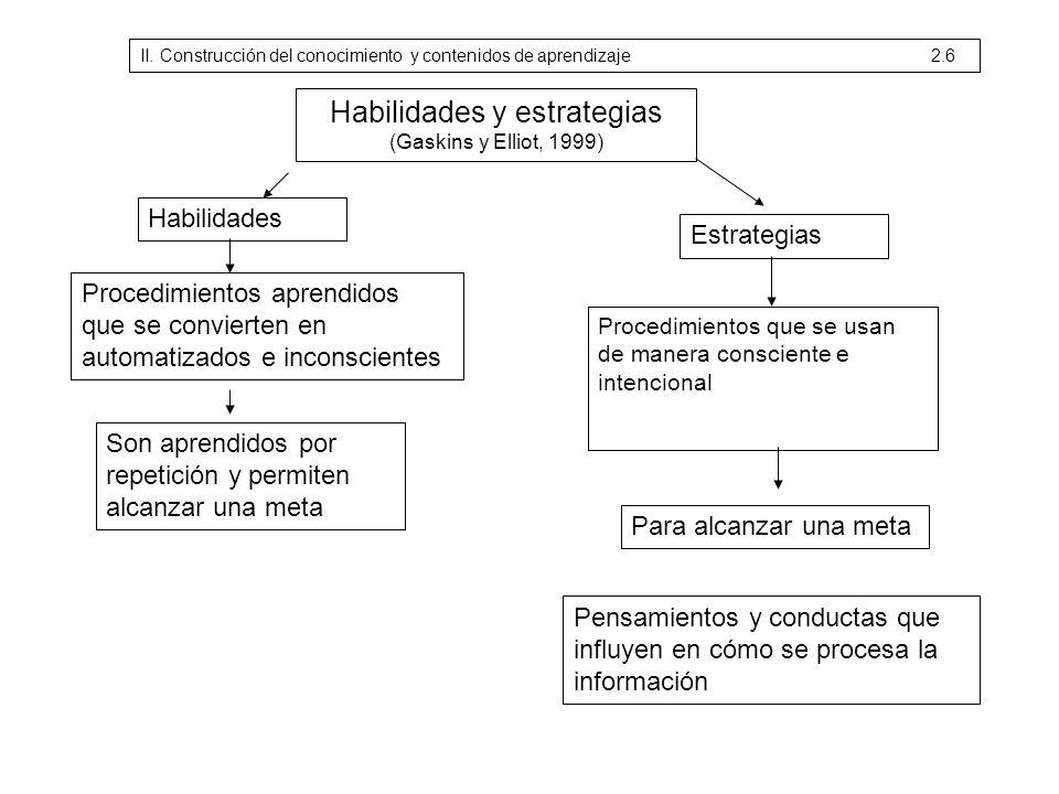 Habilidades y estrategias (Gaskins y Elliot, 1999)
