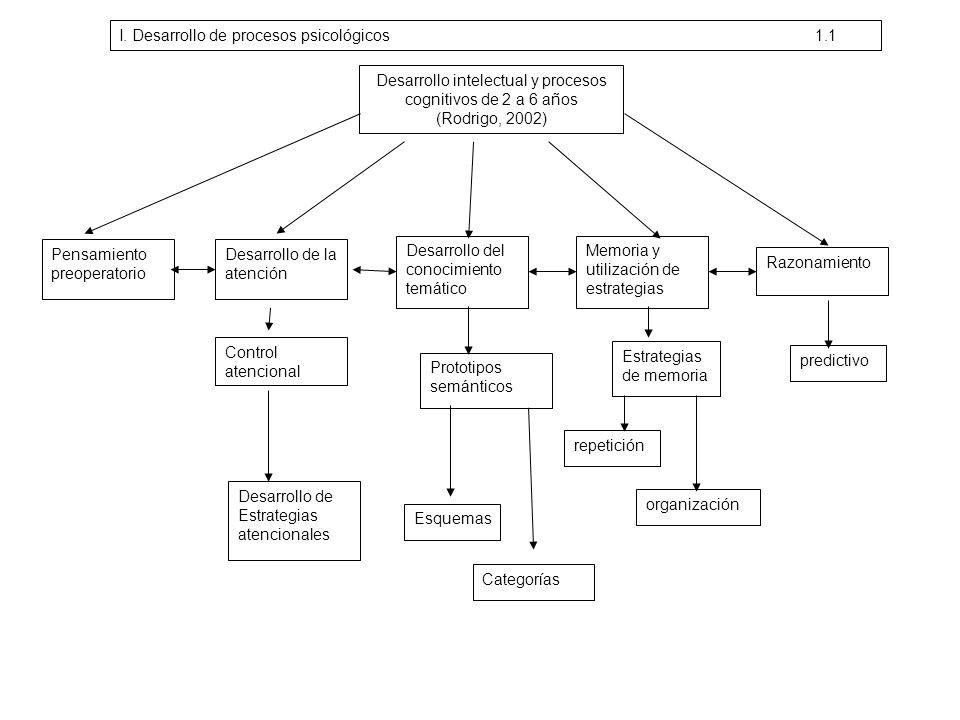 Desarrollo intelectual y procesos cognitivos de 2 a 6 años