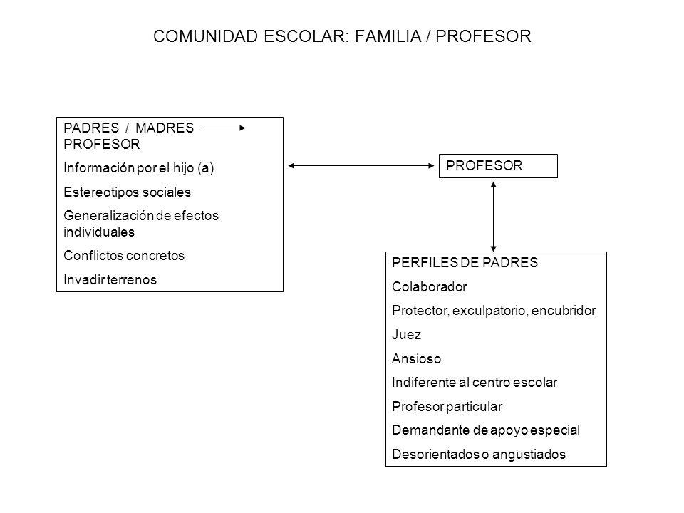 COMUNIDAD ESCOLAR: FAMILIA / PROFESOR