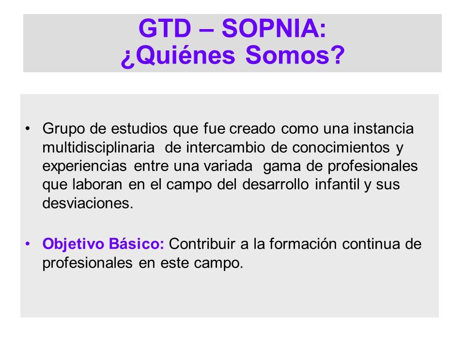 GTD – SOPNIA: ¿Quiénes Somos