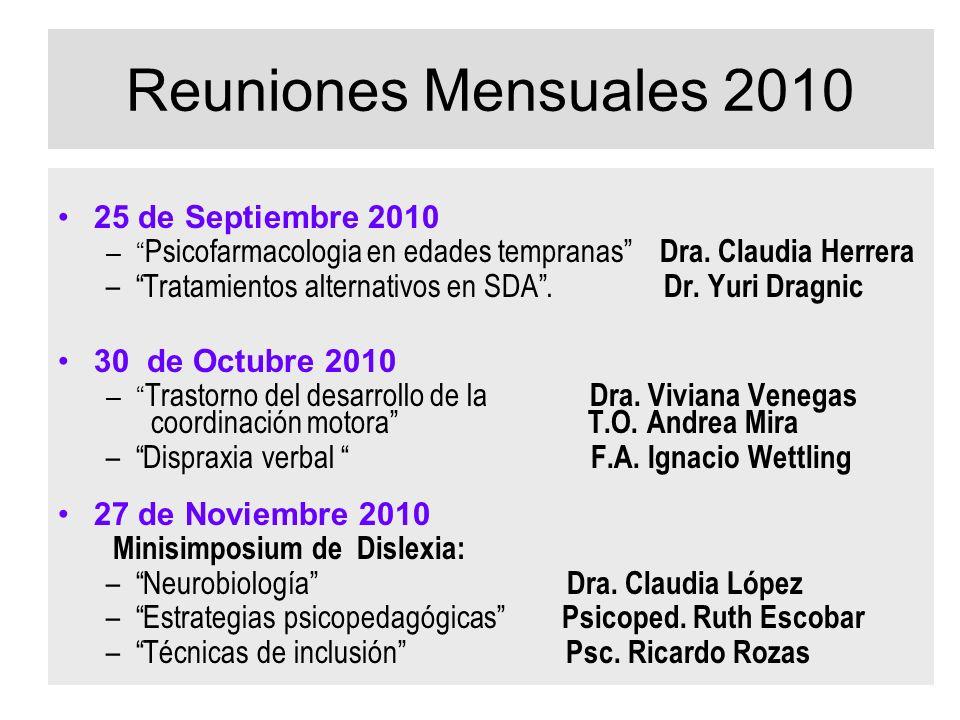 Reuniones Mensuales 2010 25 de Septiembre 2010
